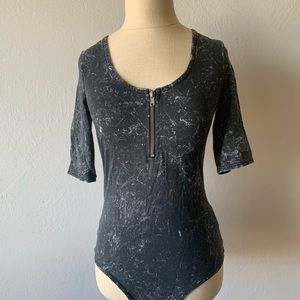 H&M Gray body suit NWT